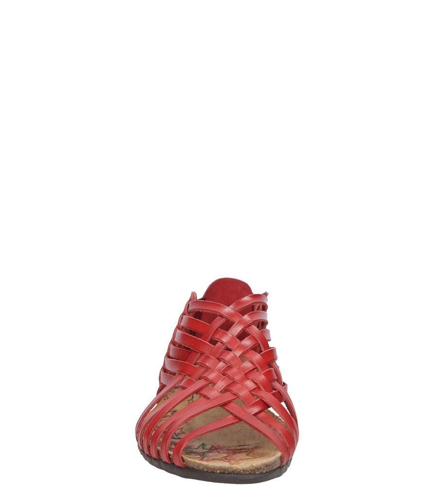 Damskie SANDAŁY VERANO 1224 czerwony;;