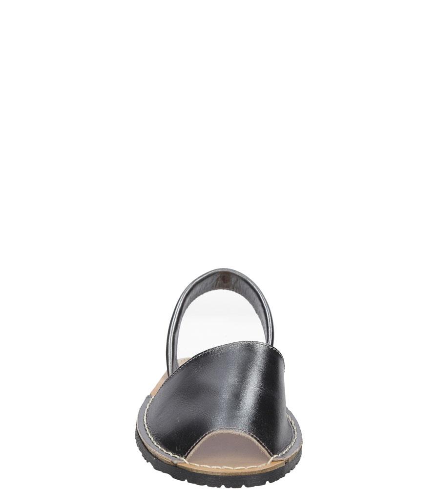 Sandały skórzane Verano 201 kolor srebrny