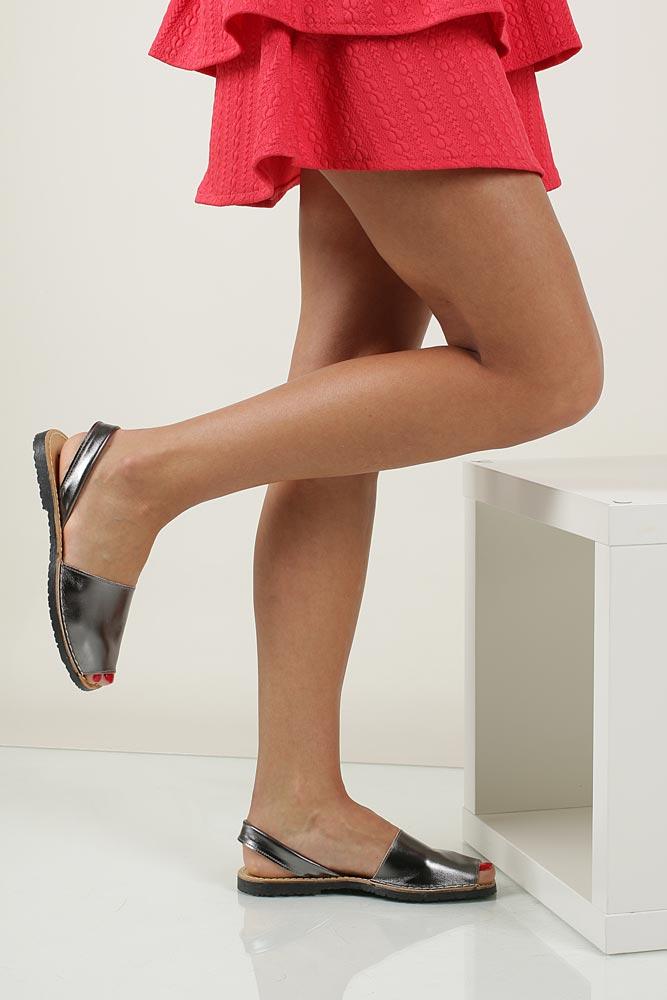 Sandały skórzane Verano 201 nosek_buta otwarty