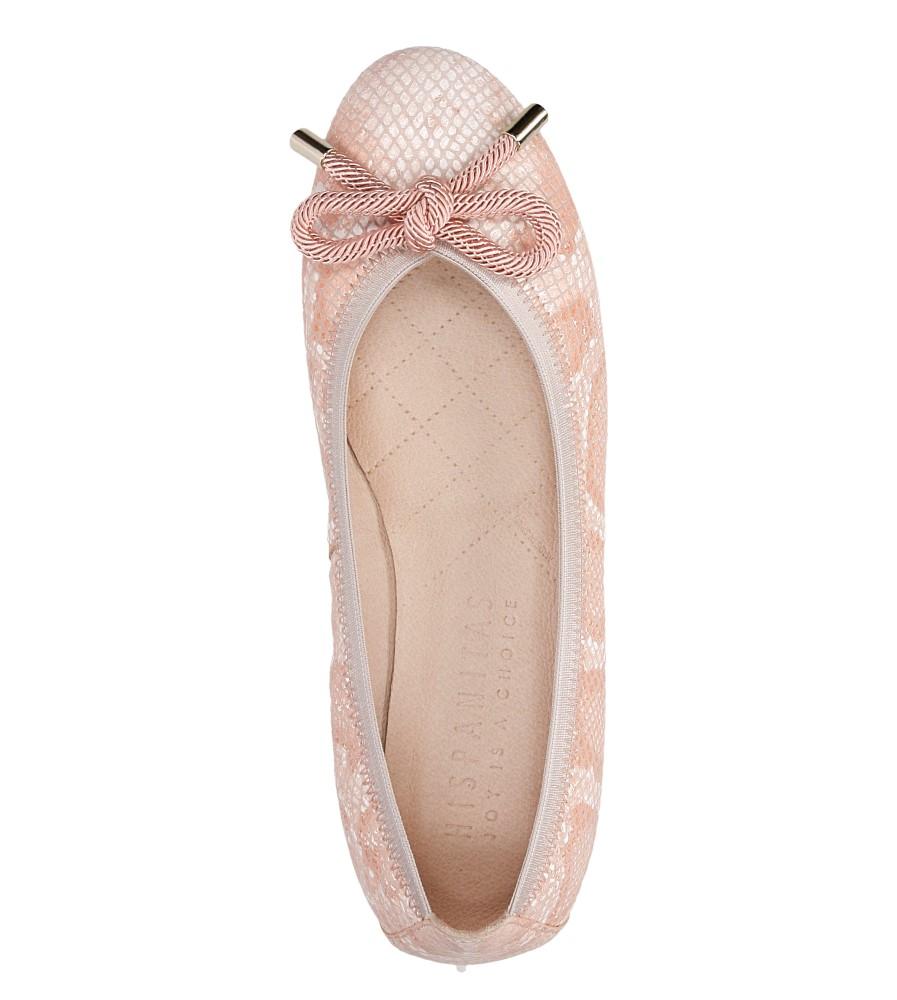 Damskie BALERINY HISPANITAS HV62715 różowy;biały;
