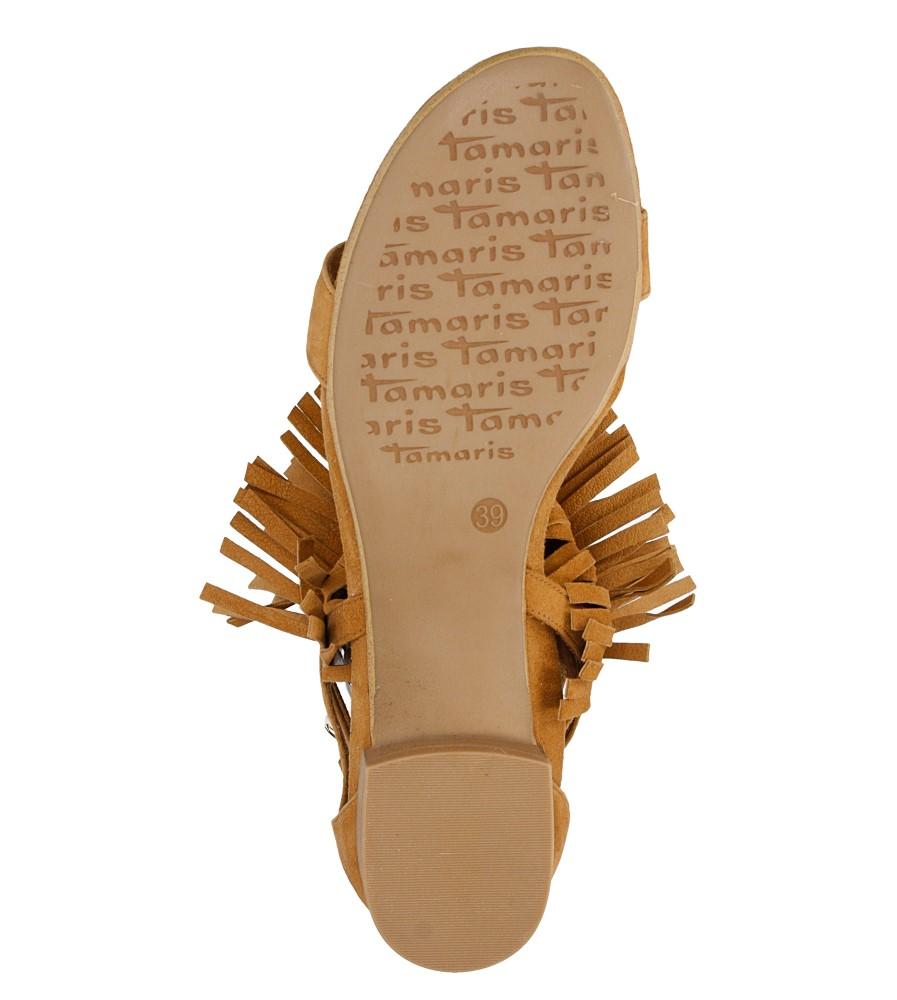 Damskie SANDAŁY TAMARIS 1-28189-36 brązowy;;