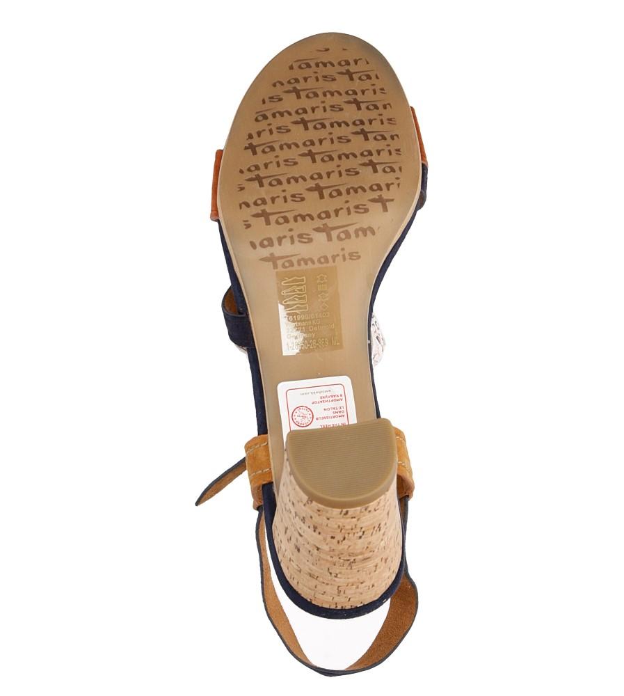 Damskie SANDAŁY TAMARIS 1-28350-26 niebieski;brązowy;