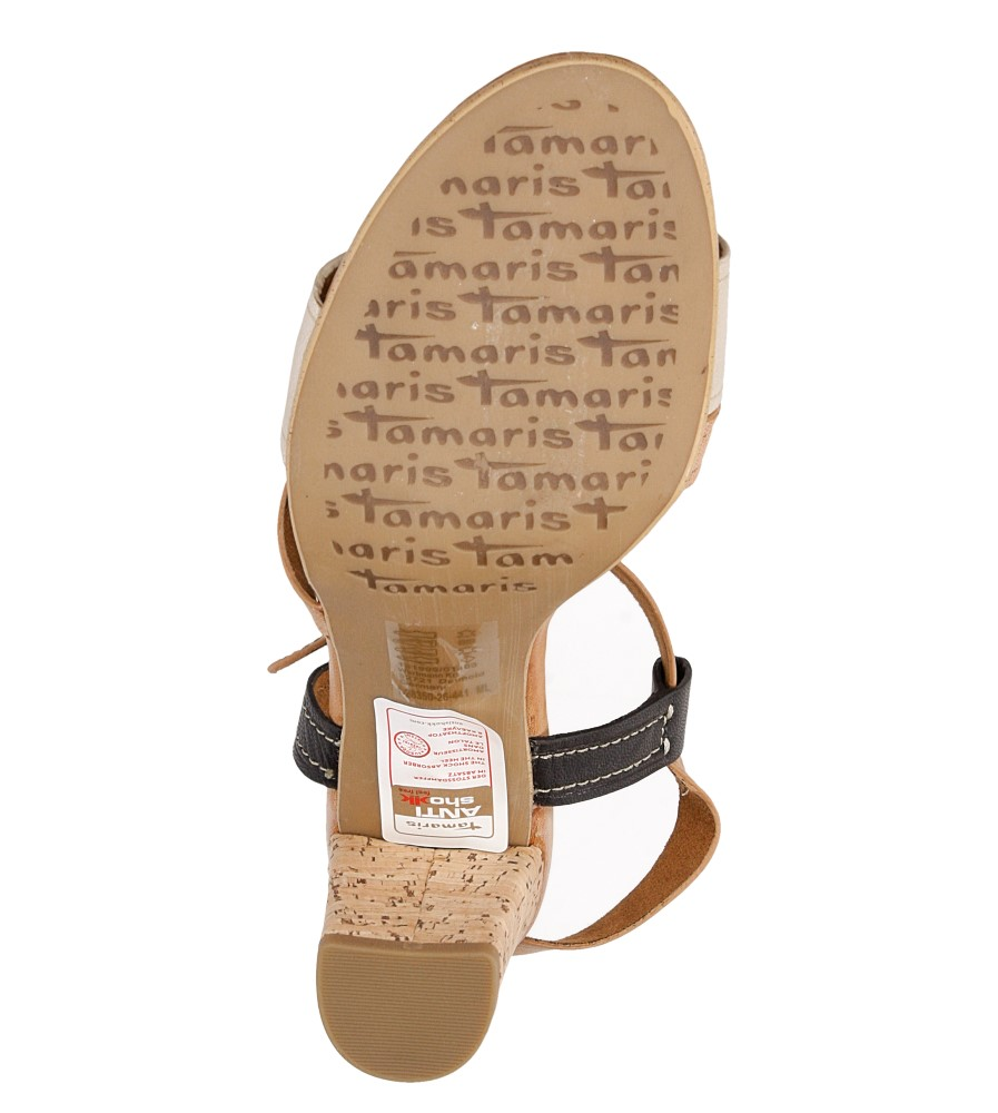 Damskie SANDAŁY TAMARIS 1-28350-26 beżowy;beżowy;