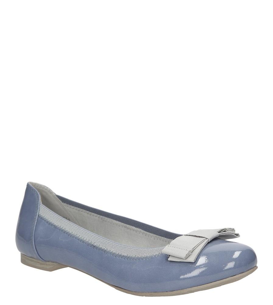 Damskie BALERINY MARCO TOZZI 2-22107-26 niebieski;;