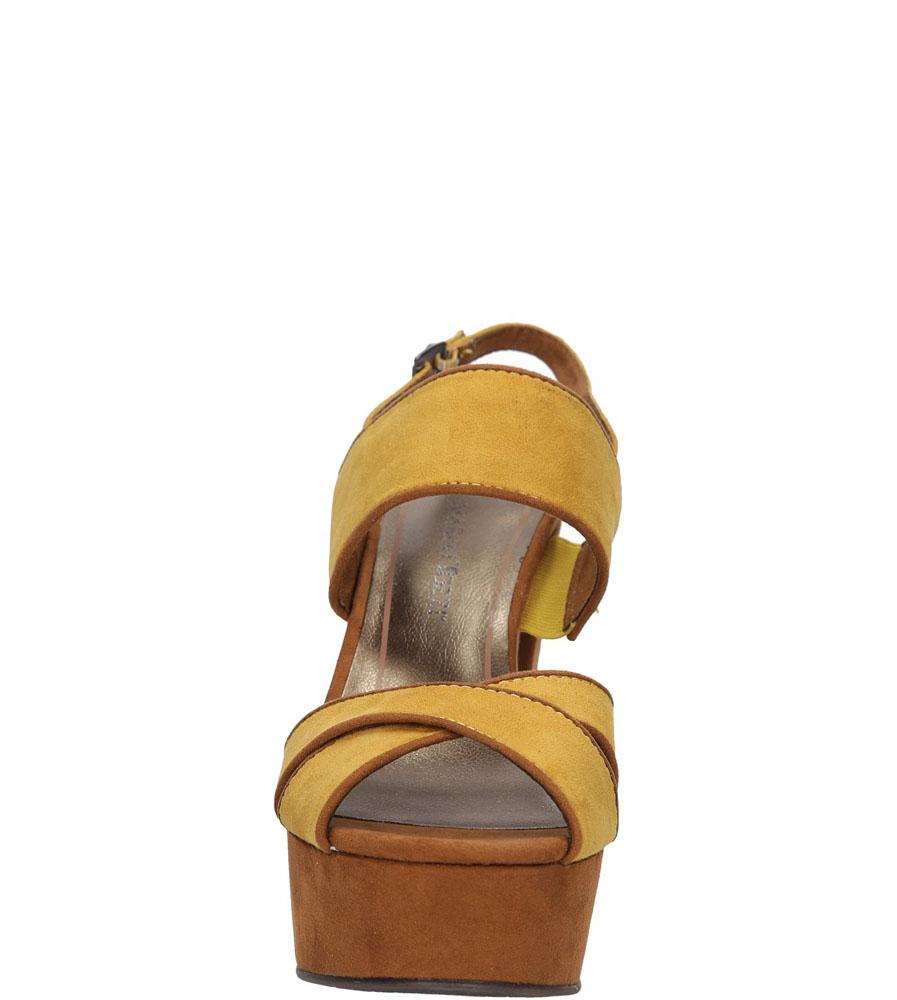 Damskie SANDAŁY MARCO TOZZI 2-28366-26 żółty;brązowy;
