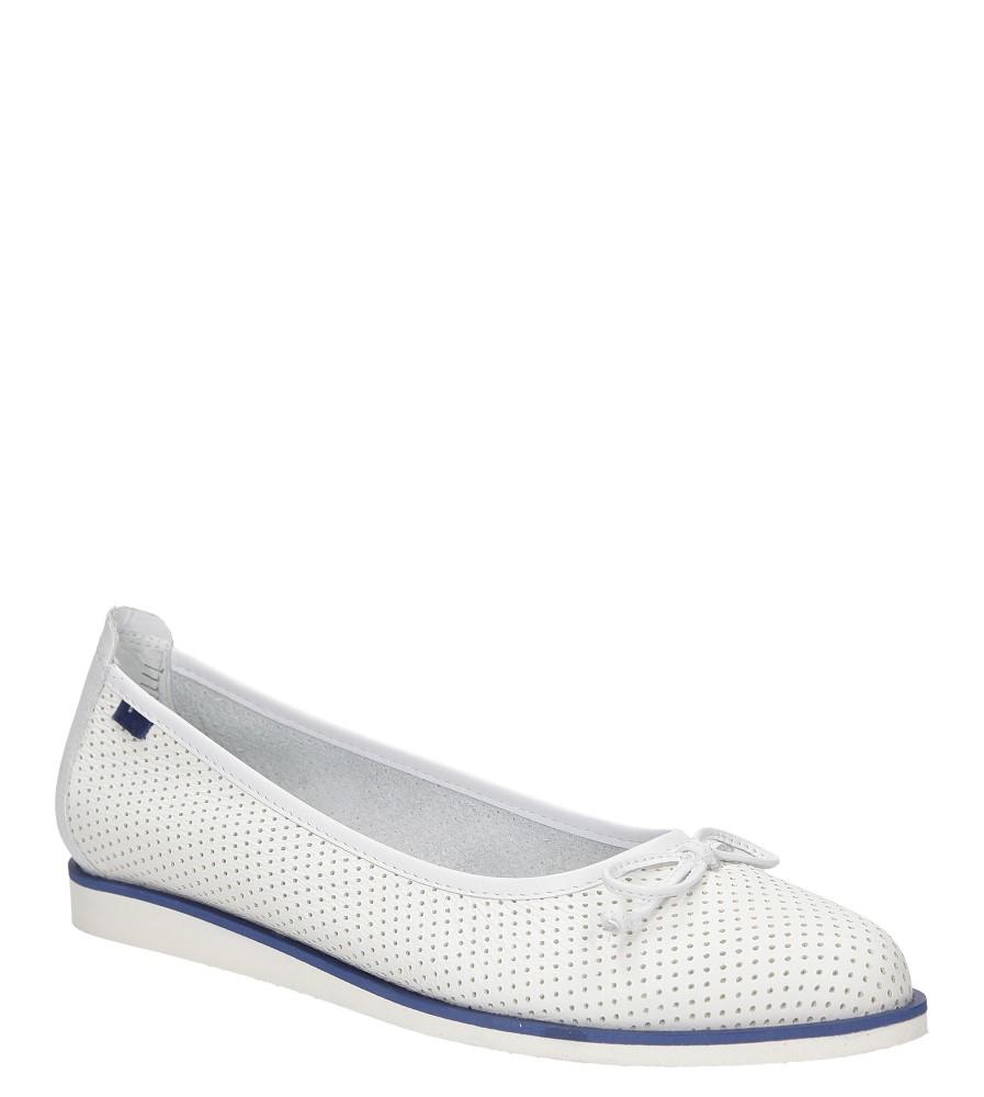Damskie BALERINY NESSI 77706 biały;;