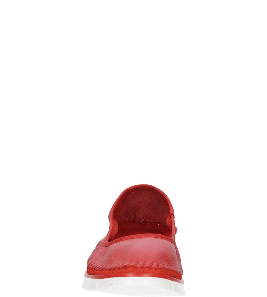 Damskie BALERINY MACIEJKA 02449 czerwony;;