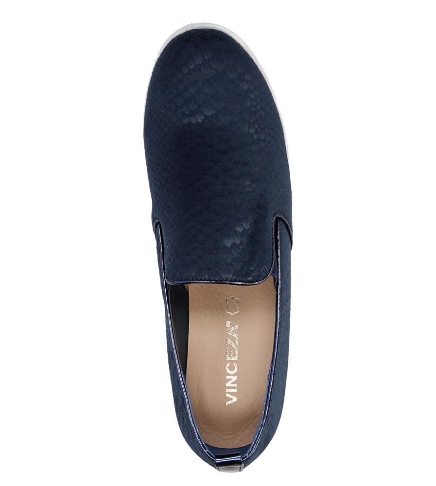 Damskie SLIP ON VINCEZA EVT16-3813DMTPB niebieski;;