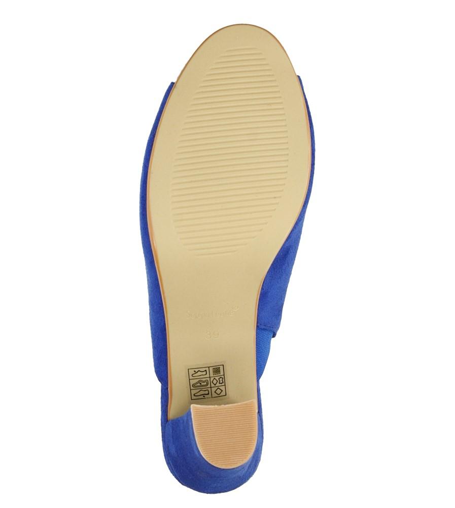 Damskie KLAPKI SERGIO LEONE 48021 niebieski;;