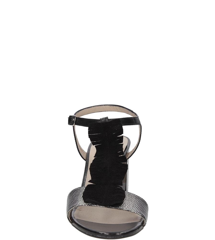 Damskie SANDAŁY KANIOWSKI K-2617 czarny;srebrny;