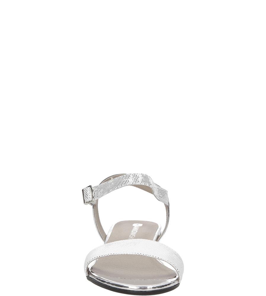 Damskie SANDAŁY KANIOWSKI K-2446 biały;srebrny;