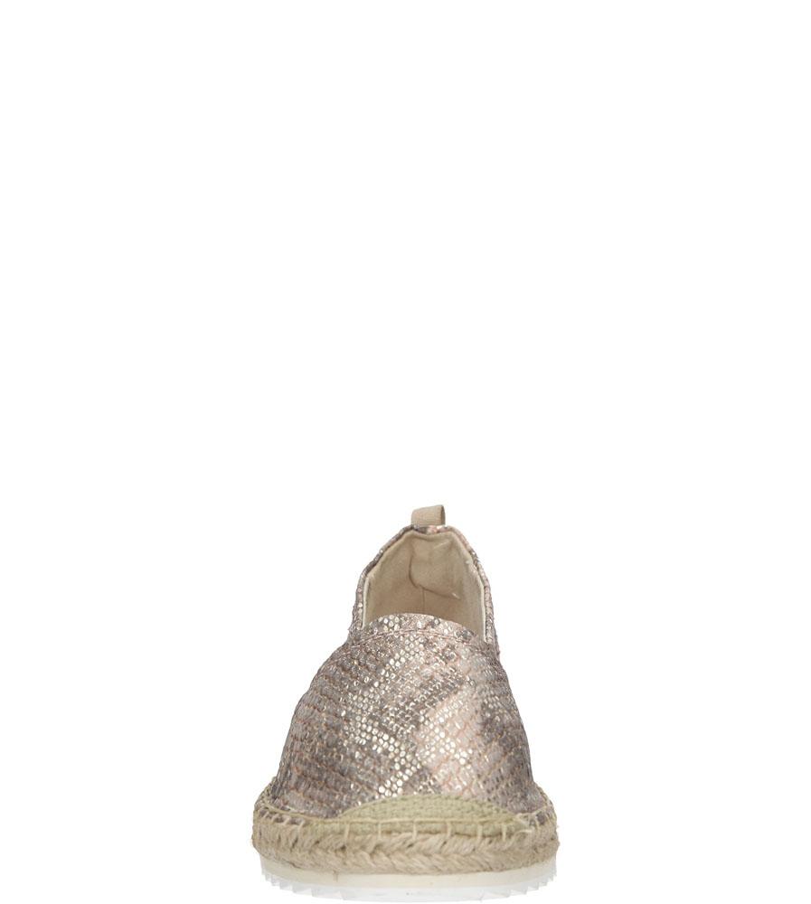 ESPADRYLE BULLBOXER 011019 kolor różowy, szary, złoty