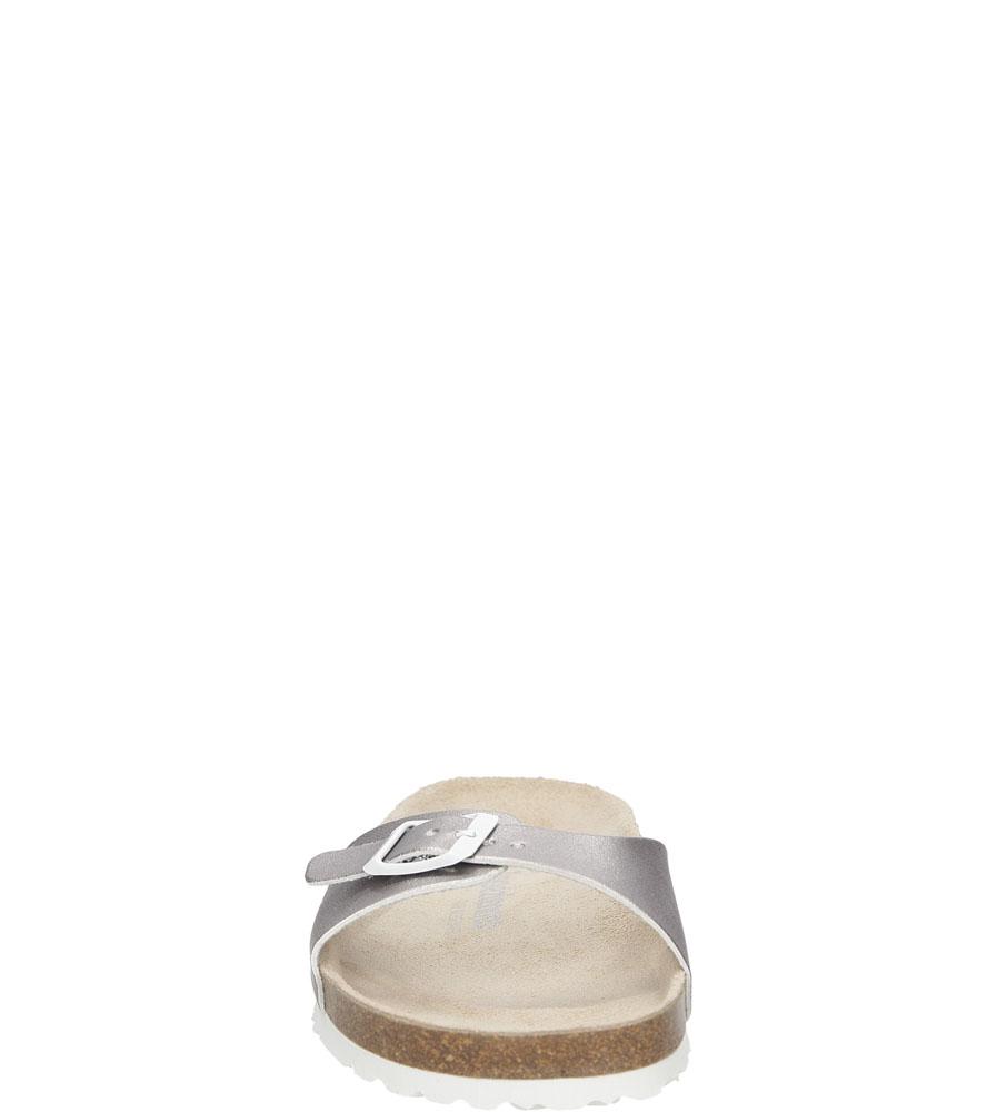 Damskie KLAPKI LES TROPEZIENNES 04400 PORNIC srebrny;;