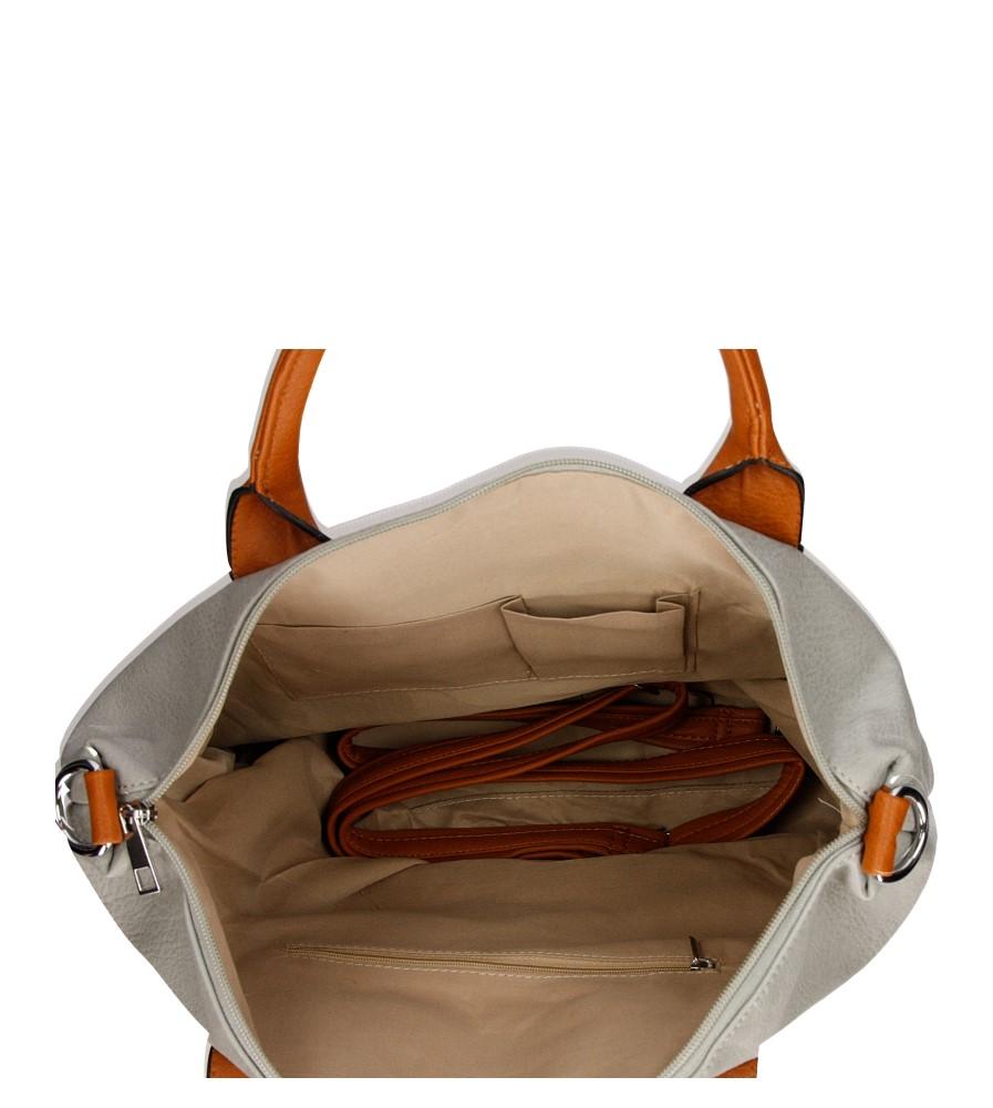 Damskie TOREBKA Z-966 szary;brązowy;