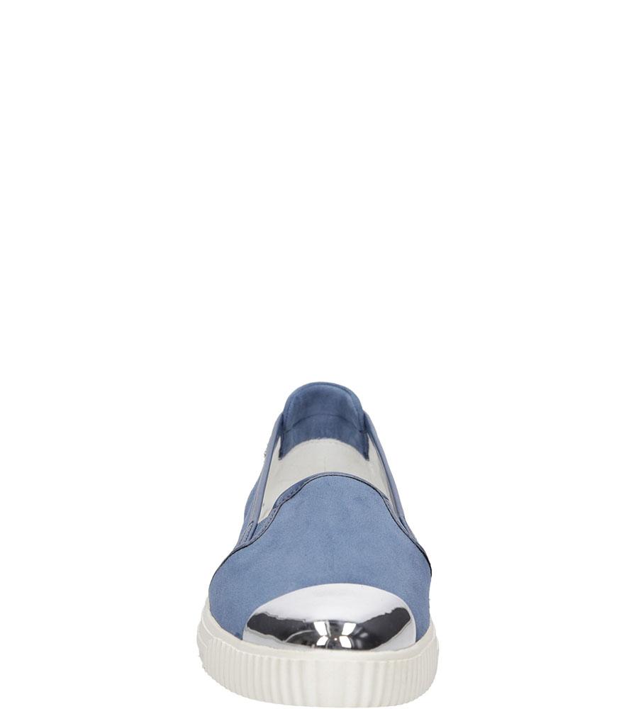 Damskie SLIP ON GEOX D621MD 021BC niebieski;;