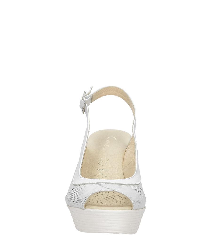 Sandały na koturnie Casu 3907 kolor biały