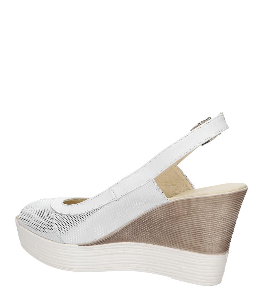 Sandały na koturnie Casu 3907 wysokosc_obcasa 9 cm