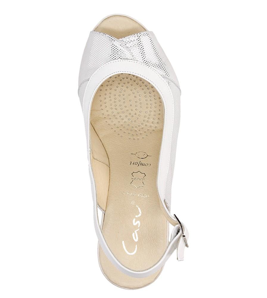 Sandały na koturnie Casu 3907 wysokosc_platformy 3 cm