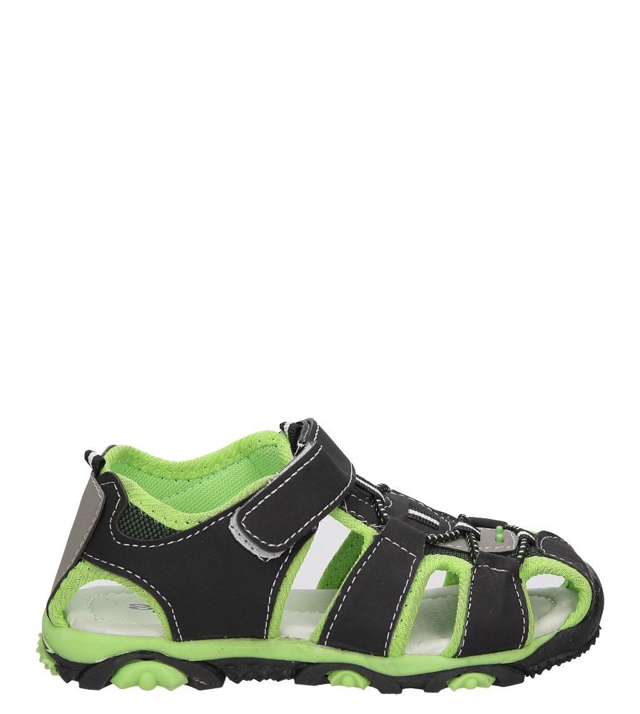 Dziecięce SANDAŁY 562-1 czarny;zielony;