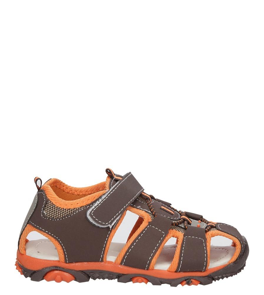 Dziecięce SANDAŁY 562-1 brązowy;pomarańczowy;