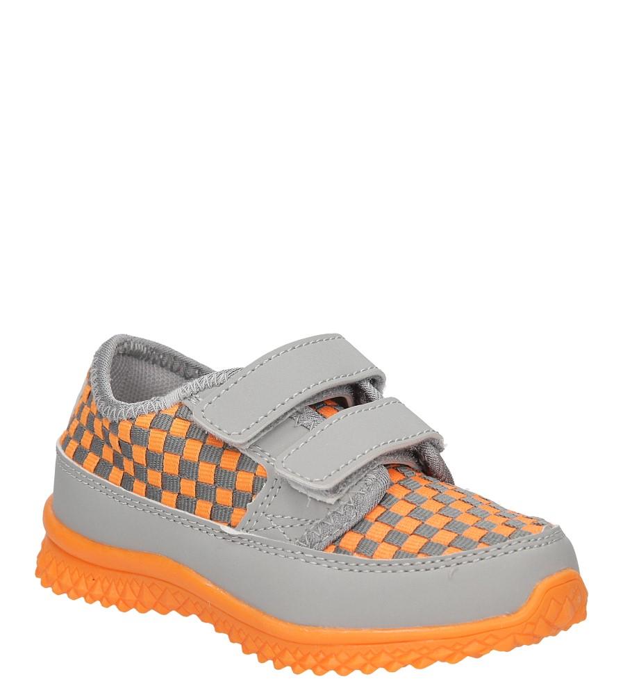 Dziecięce SPORTOWE TM349 pomarańczowy;szary;