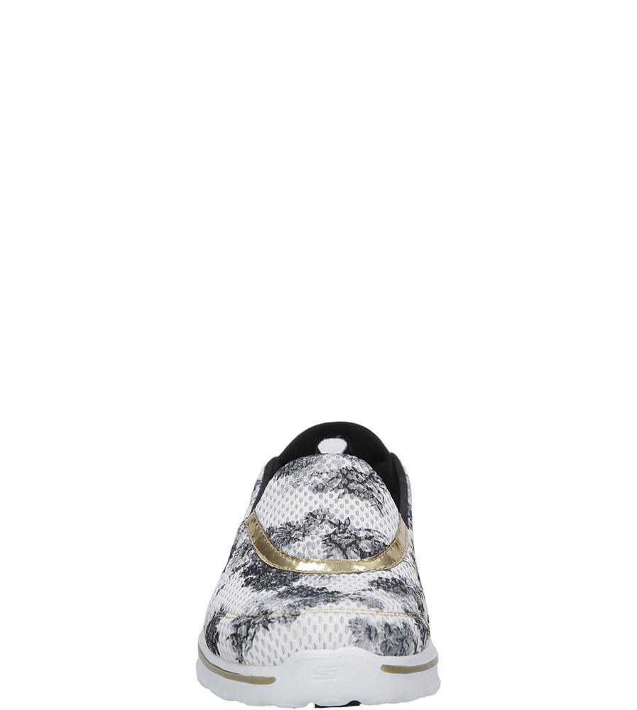 Damskie SPORTOWE SKECHERS 14048 biały;czarny;złoty