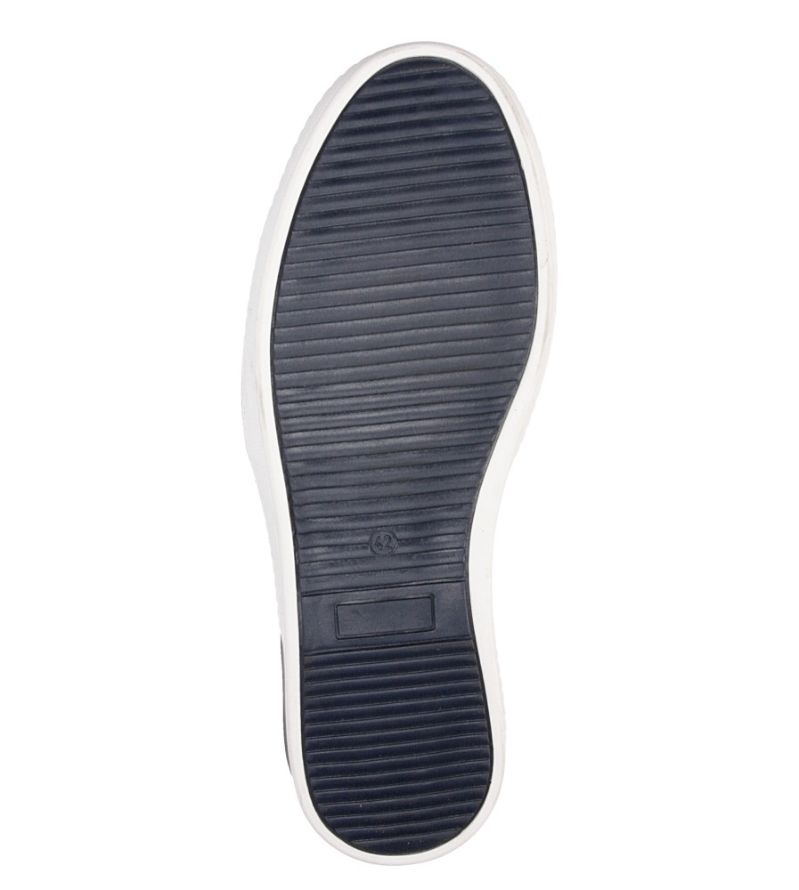 Męskie SLIP ON ENZO 592 niebieski;;