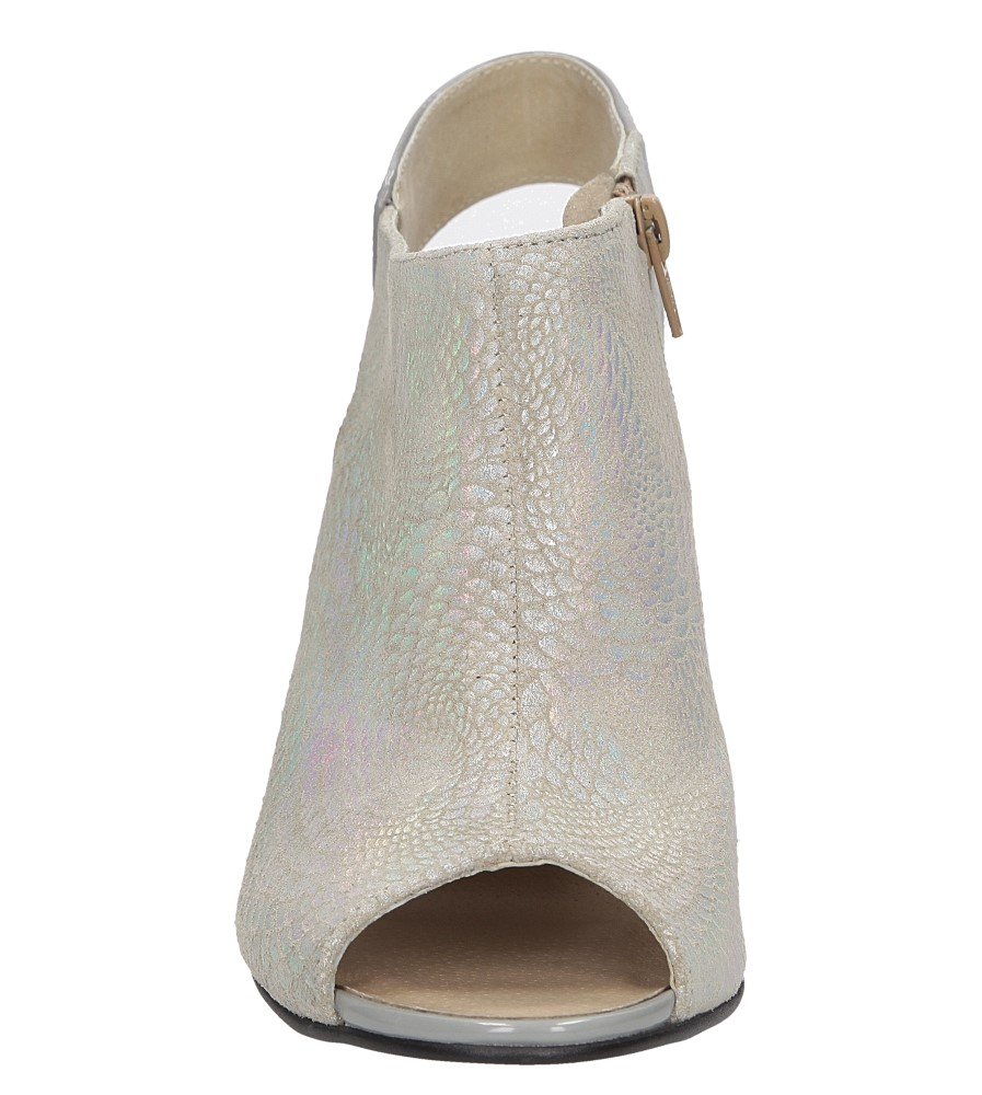 Sandały na słupku Casu 301 kolor srebrny