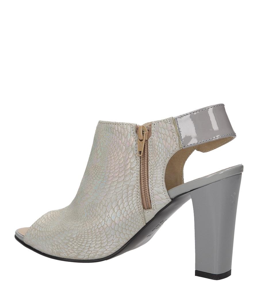Sandały na słupku Casu 301 wysokosc_obcasa 10 cm