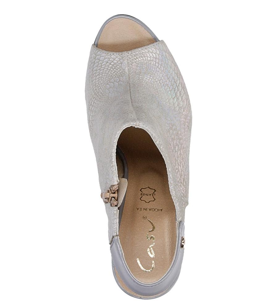 Sandały na słupku Casu 301 wys_calkowita_buta 16 cm