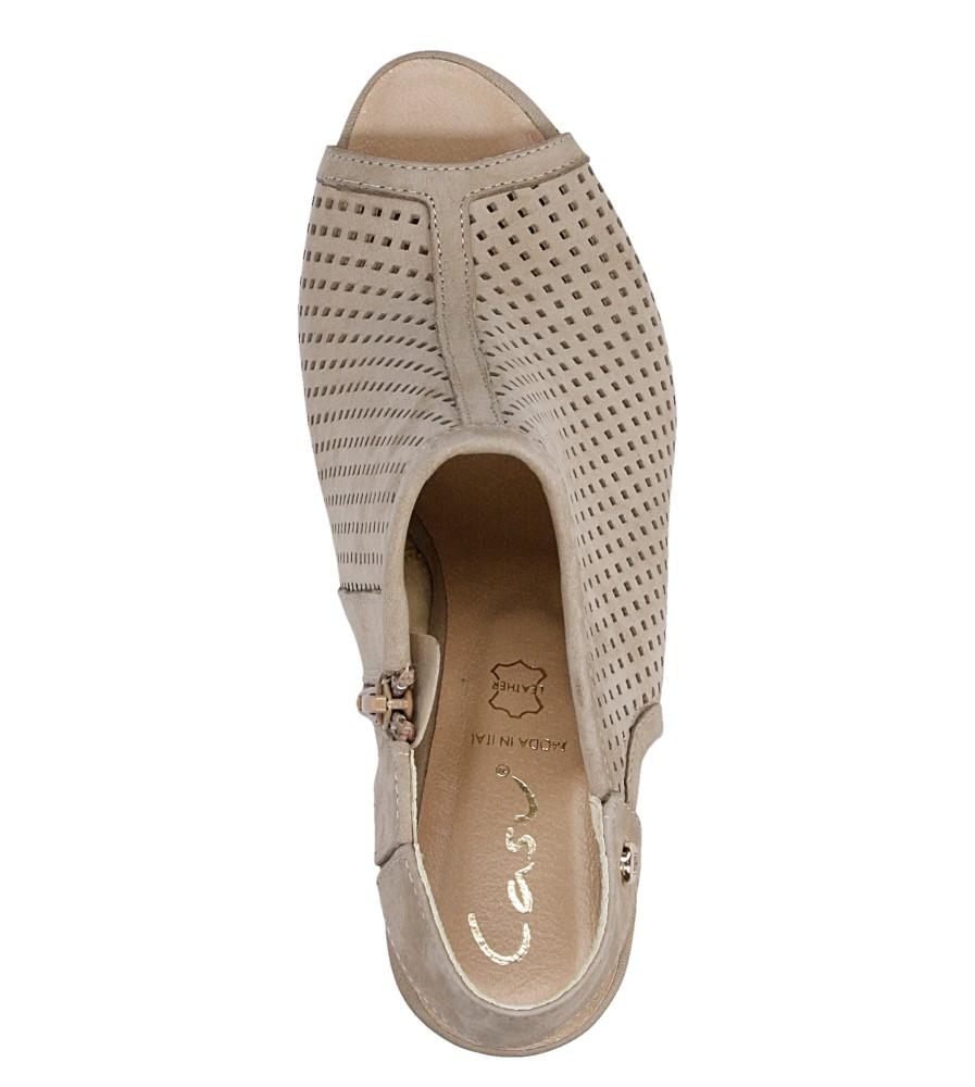 Sandały ażurowe na słupku Casu 302 wysokosc_obcasa 10 cm