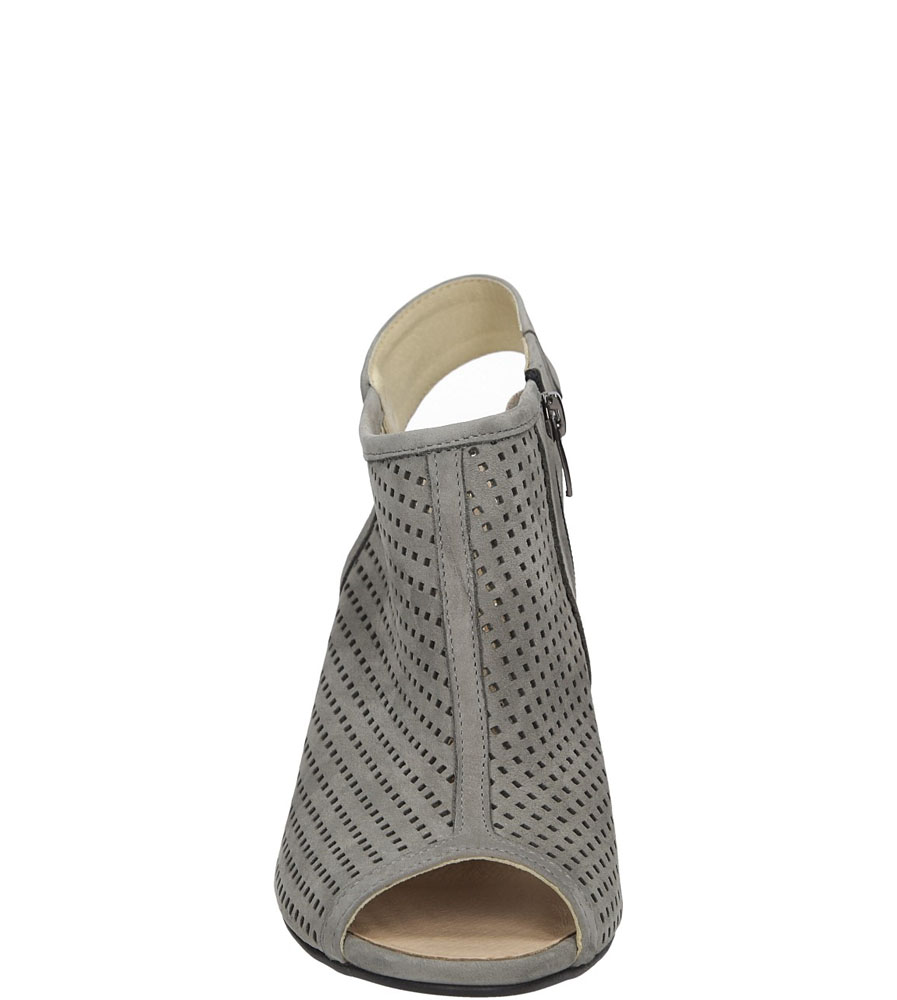 Sandały ażurowe na słupku Casu 302 style Ażurowy