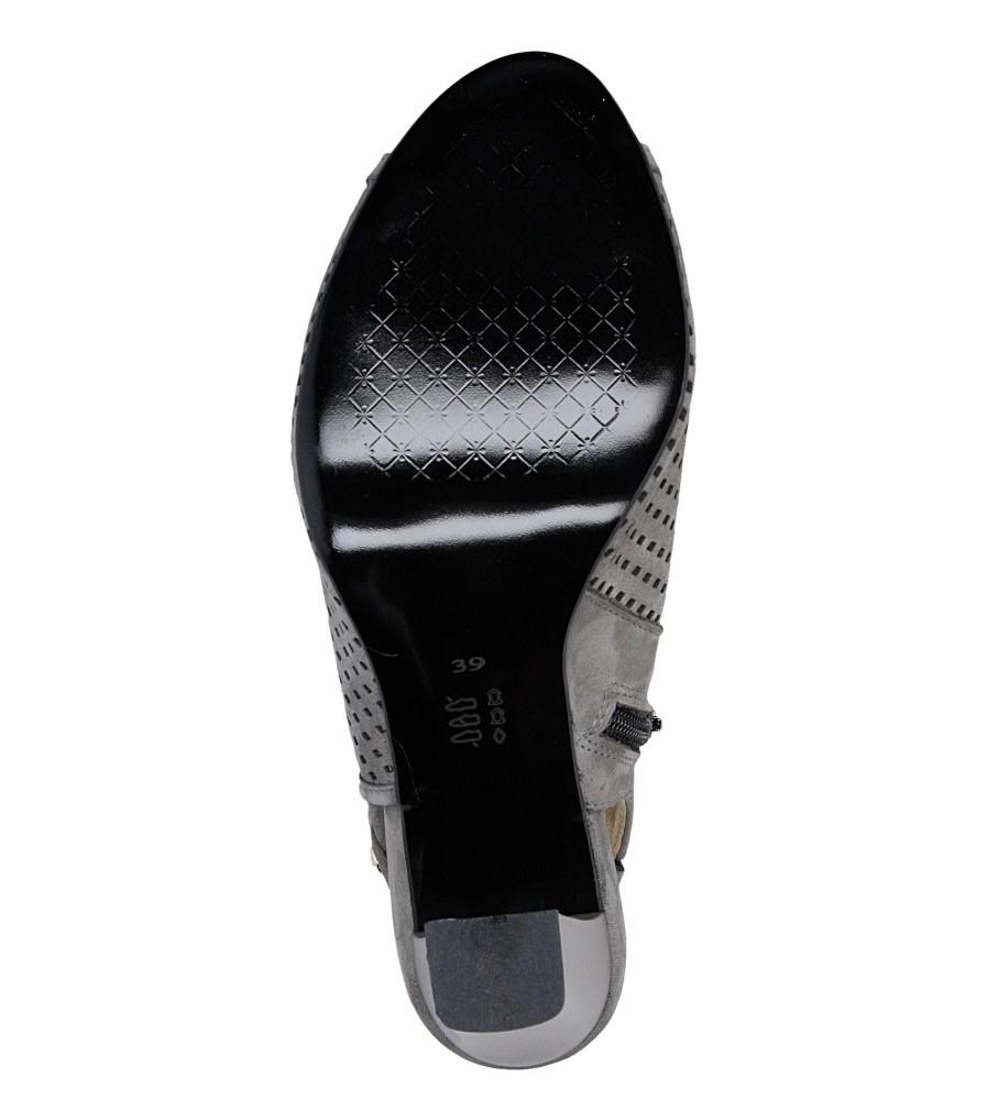 Sandały ażurowe na słupku Casu 302 wys_calkowita_buta 14 cm