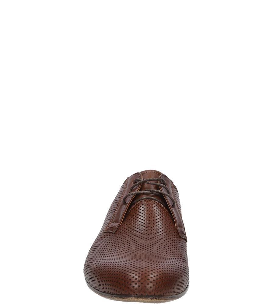 Męskie Wizytowe brązowe skórzane sznurowane Windssor 348 brązowy;;