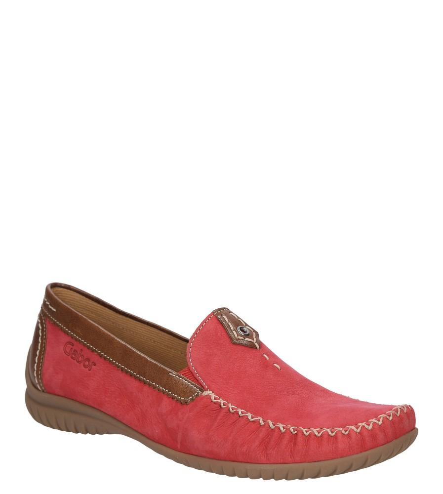 Damskie MOKASYNY GABOR 312-10502-1100 czerwony;;