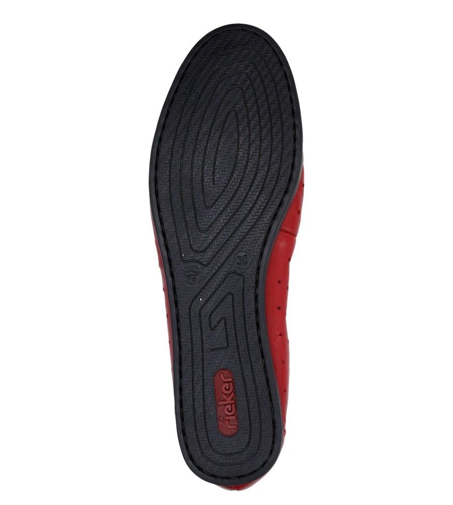 Damskie BALERINY RIEKER L1065-33 czerwony;;