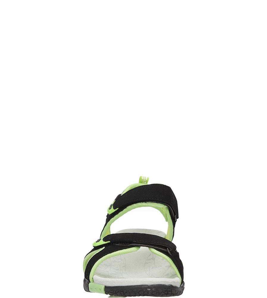 Damskie SANDAŁY  HASBY S1991 czarny;zielony;