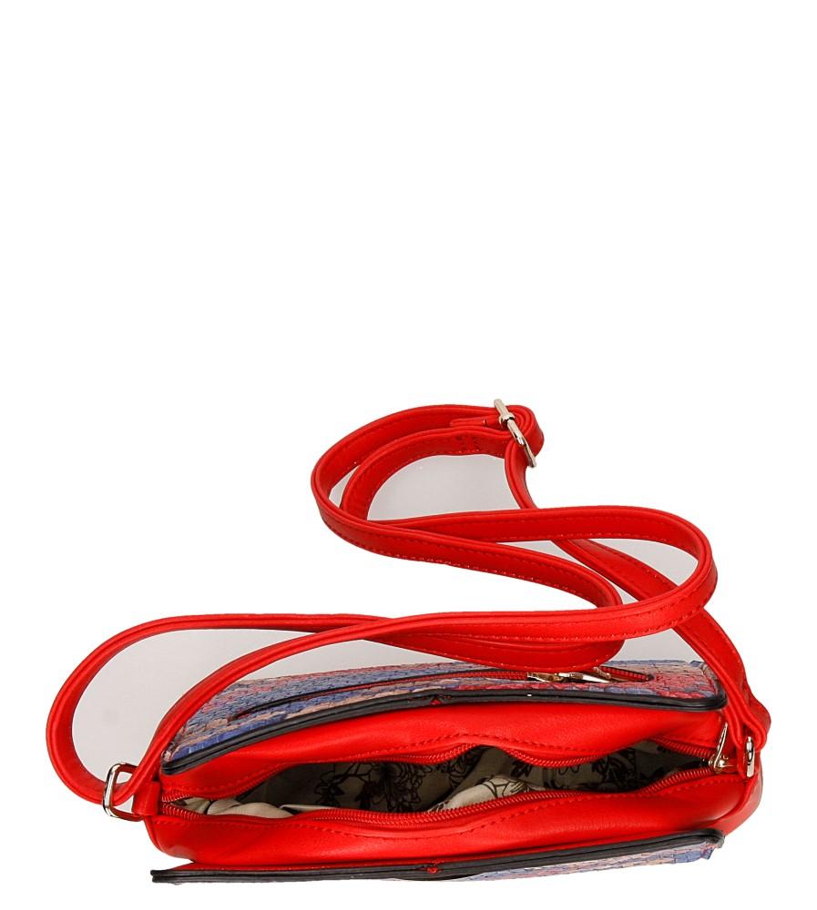 Damskie TOREBKA H057 czerwony;multikolor;
