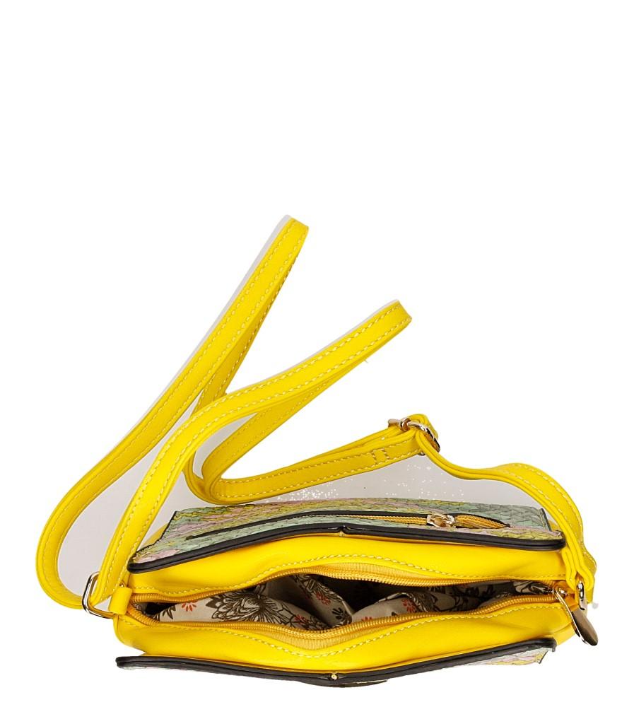 Damskie TOREBKA H057 żółty;multikolor;
