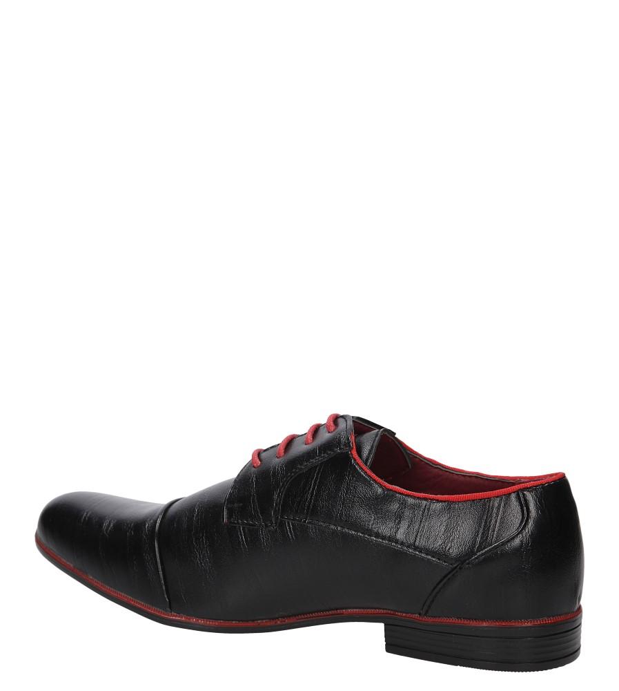 Męskie WIZYTOWE LXC345 czarny;czerwony;