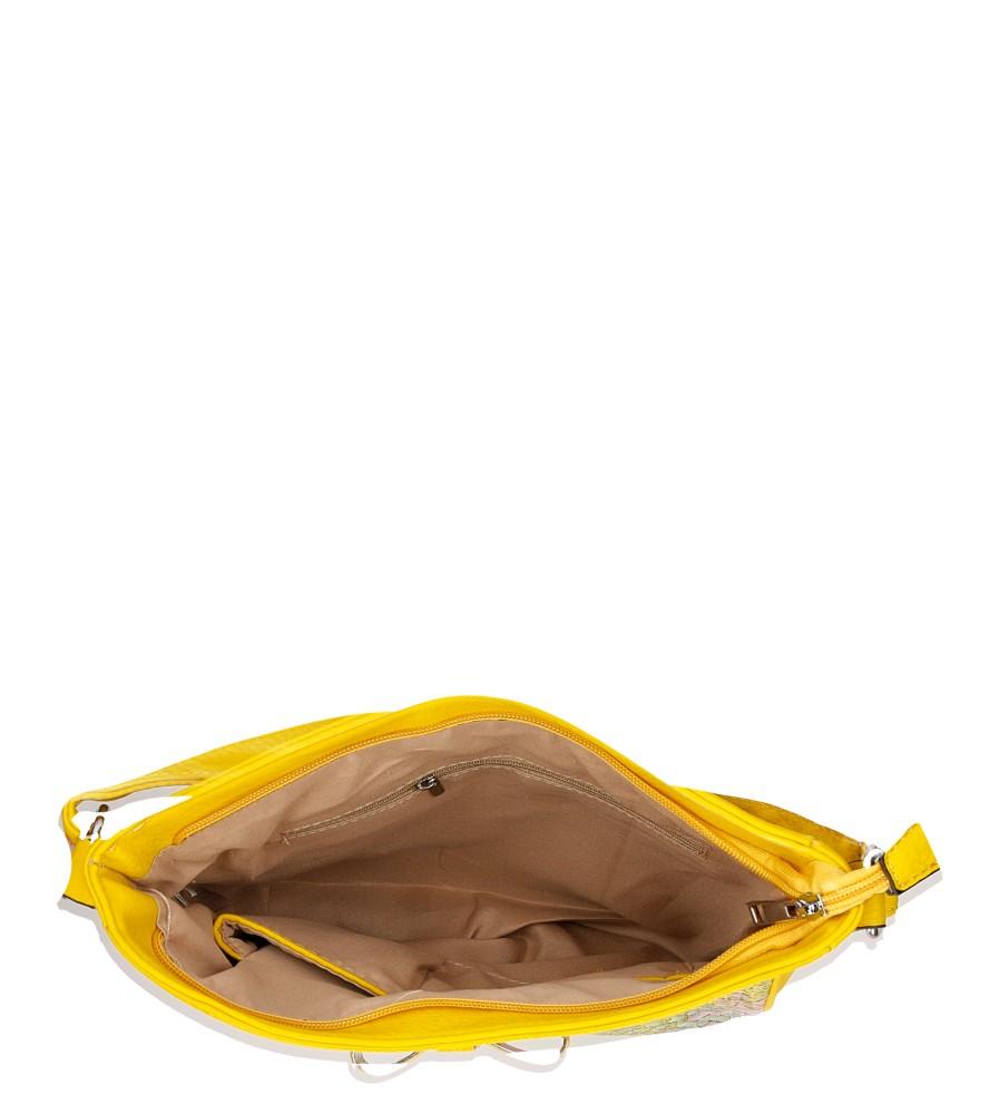 Damskie TOREBKA LISTONOSZKA D628 żółty;multikolor;