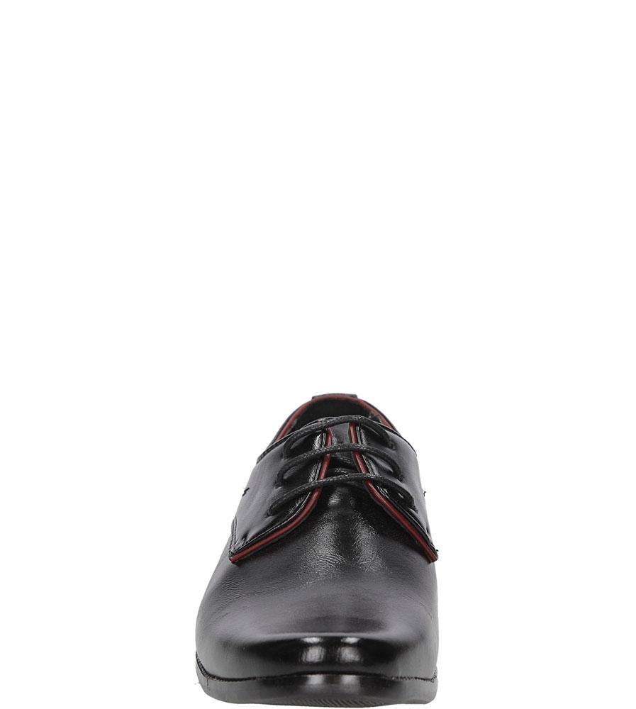Czarne buty wizytowe Casu C137 sezon Całoroczny