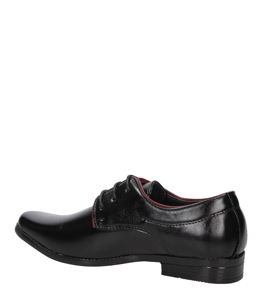 Czarne buty wizytowe Casu C137 kolor czarny