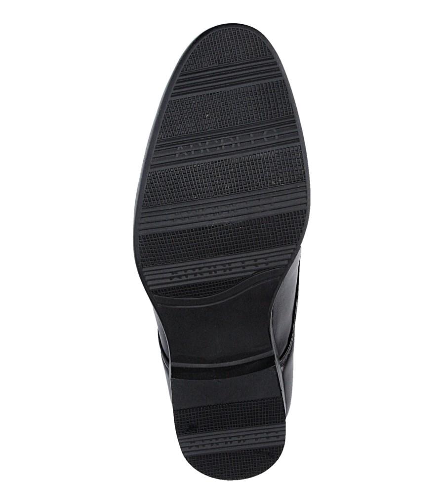 Czarne buty wizytowe Casu C137 wysokosc_platformy 1 cm