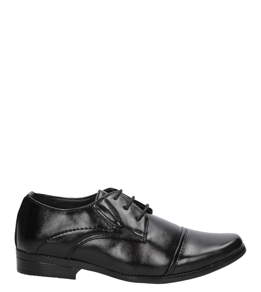 Czarne buty wizytowe Casu C140