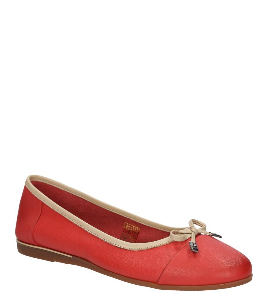 Damskie BALERINY LANQIER 38C32 czerwony;;