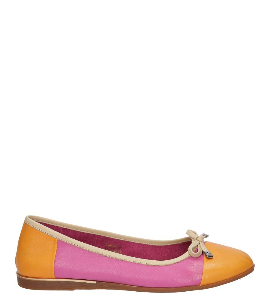 Damskie BALERINY LANQIER 38C32 różowy;pomarańczowy;