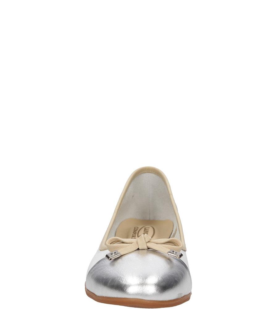 Damskie BALERINY LANQIER 38C32 biały;srebrny;