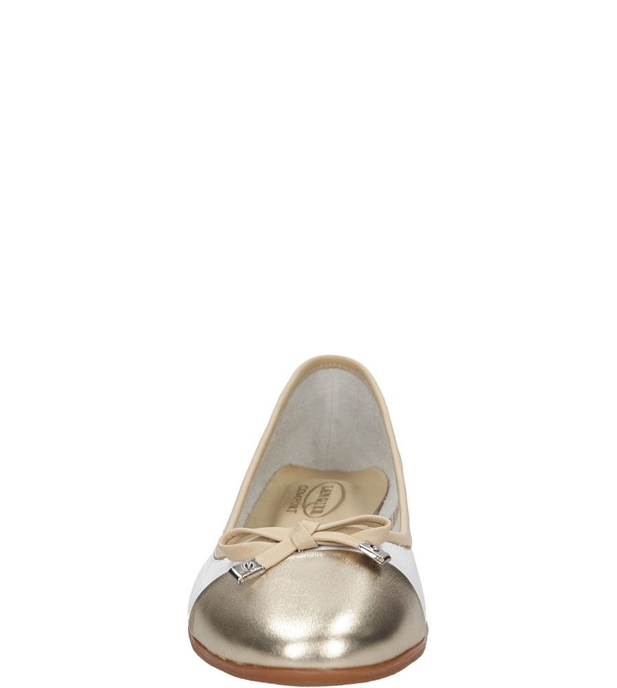 Damskie BALERINY LANQIER 38C32 biały;złoty;