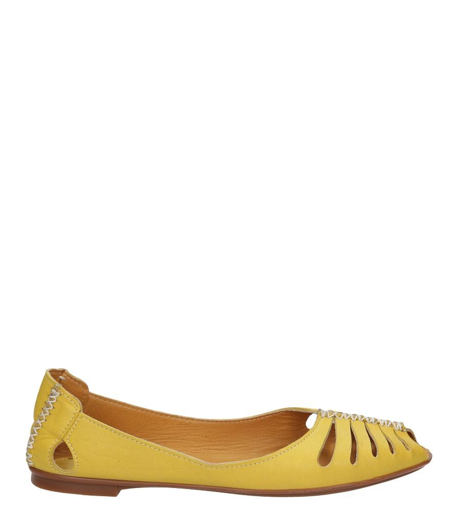 Damskie BALERINY LANQIER 38C11 żółty;;